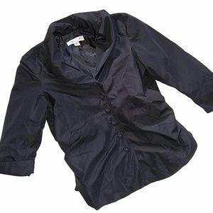 Coldwater Creek Black Button Blazer PS